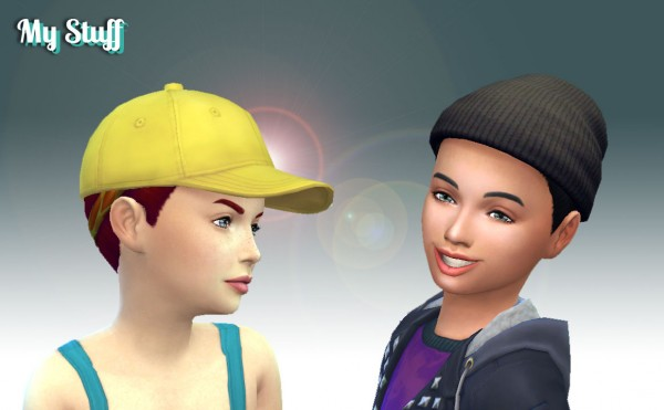 Mystufforigin: Headband Hairstyle for Girls for Sims 4