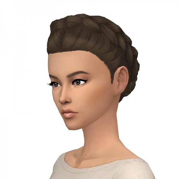 Deelitefulsimmer: Ollena hair recolored for Sims 4