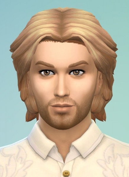 Birksches sims blog: Ludwig II Hair for him for Sims 4