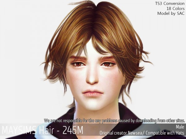 MAY Sims: May 246M hair retextured for Sims 4