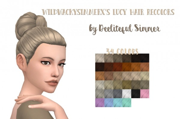 Deelitefulsimmer: Lucy hair recolor for Sims 4