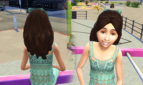 Mystufforigin: Sweet Ponytail for Girls for Sims 4