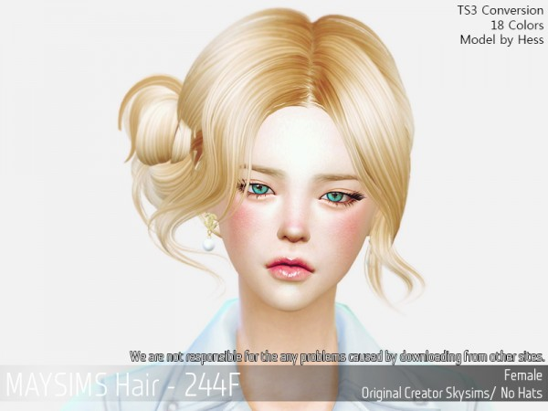 MAY Sims: May 244F hair retextured for Sims 4