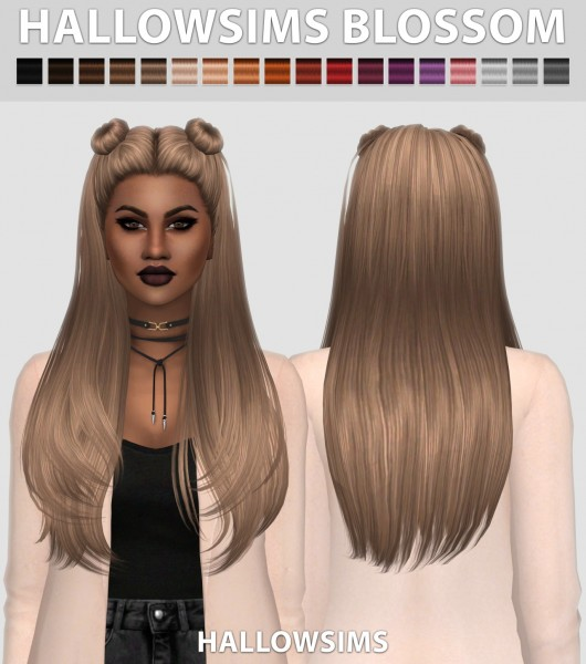 Hallow Sims: HallowSims Blossom ( 2 Versions ) for Sims 4