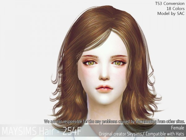 MAY Sims: May Hair 254F for Sims 4