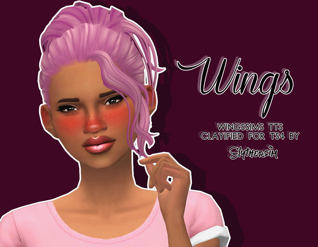 Slythersim Wingsims Tts Hair Clayified For Ts4 Sims 4
