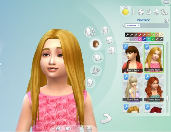 Mystufforigin: Aurea Hairstyle for Girls for Sims 4