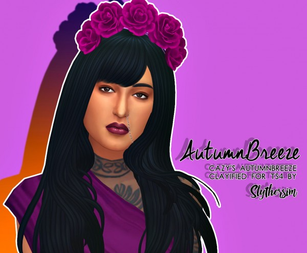 Slythersim: Cazy's AutumnBreeze Clayified for Sims 4