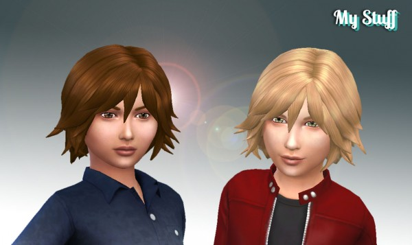 Mystufforigin: Adrien Hairstyle for Boys for Sims 4