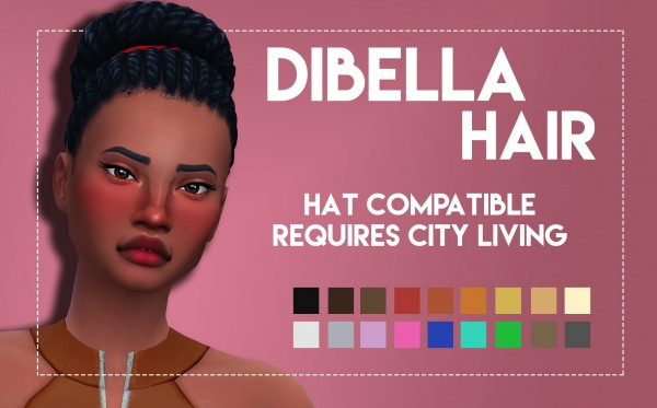 Simsworkshop: Dibella hair for Sims 4