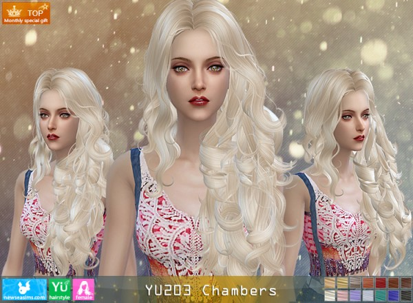 NewSea: YU203 Chambers hair for Sims 4