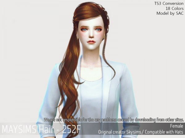 MAY Sims: May 252F hair retextured for Sims 4