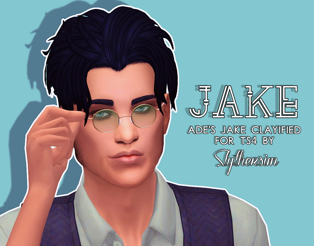 Sims 4 Hairs Slythersim Ade S Jake Clayified