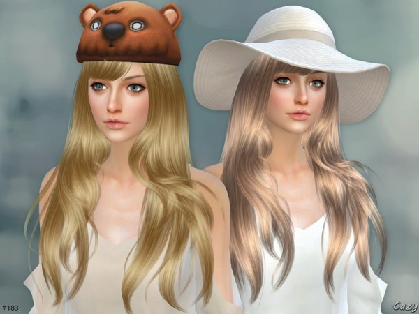 The Sims Resource: Autumn Breeze Hair by Cazy for Sims 4
