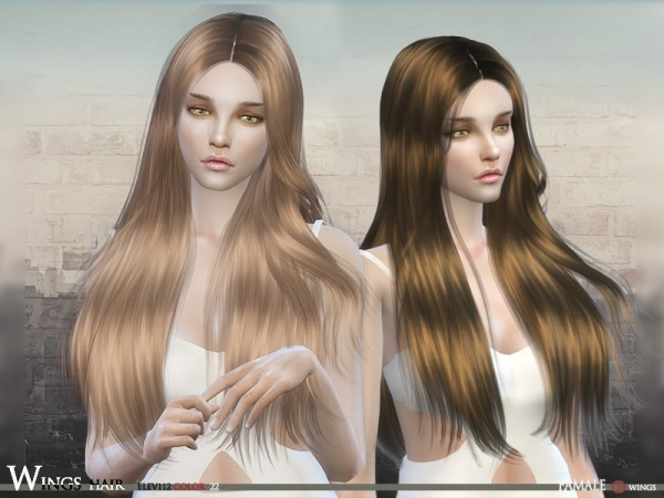 The Sims Resource: Elev 112F hair by Wingssims for Sims 4