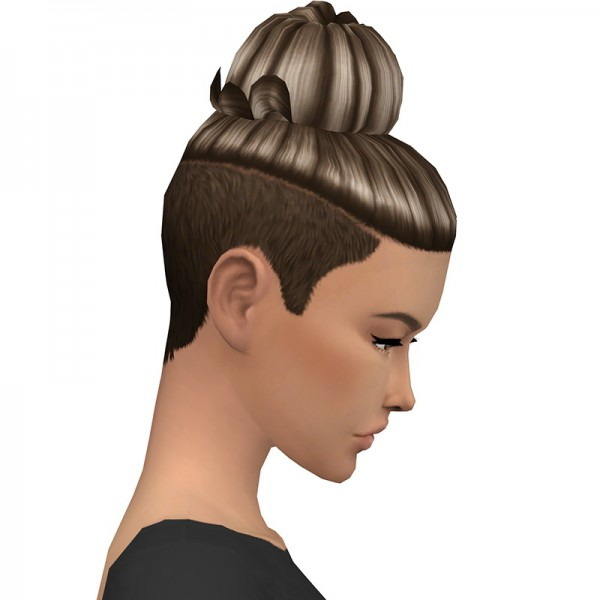 Deelitefulsimmer: Enrique`s Kassy hair recolored for Sims 4