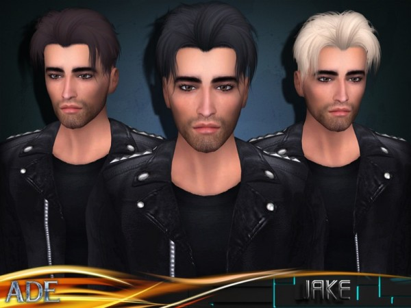 The Sims Resource: Jake hair by Ade Darma for Sims 4