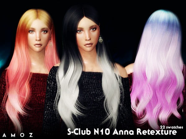 The Sims Resource: Sclub Anna n10 retextured by Amoz. for Sims 4