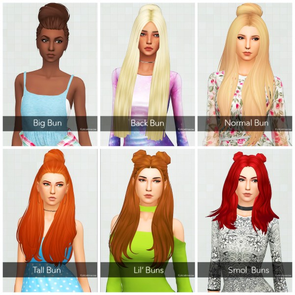Kot Cat: Followers Gift   Simpliciaty Buns Clayified for Sims 4