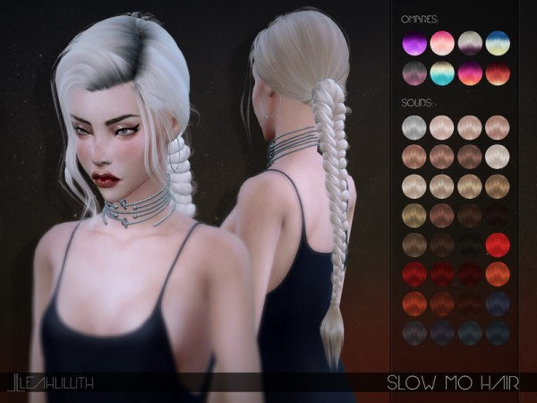 The Sims Resource: Slow Mo Hair by LeahLillith for Sims 4
