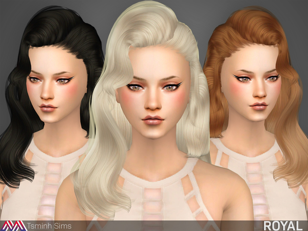 The Sims Resource: Royal hair by tsminh for Sims 4