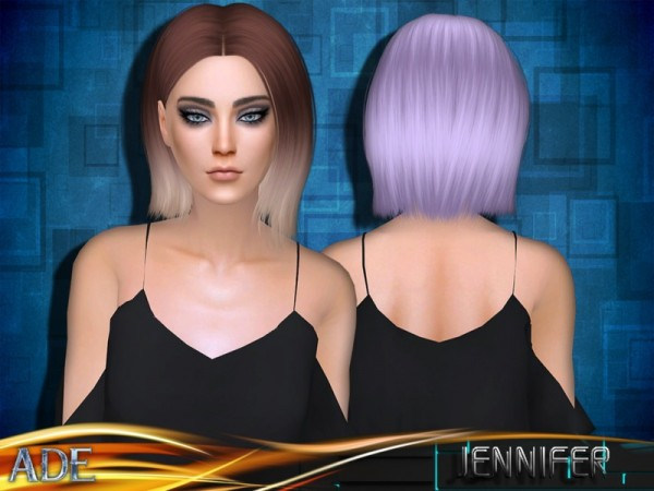 The Sims Resource: Jennifer hair by Ade Darma for Sims 4