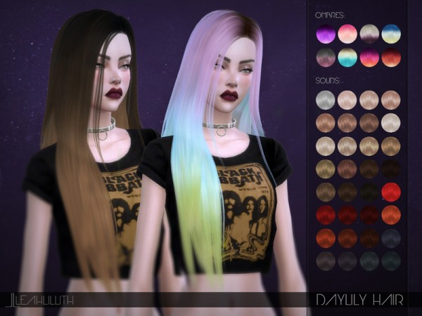 The Sims Resource: Daylily Hair by LeahLillith for Sims 4