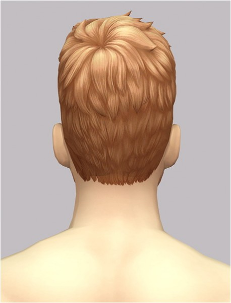 Birksches sims blog: Messy short hair EP02 edit for him for Sims 4