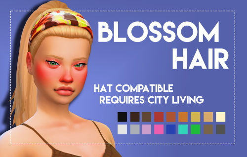 Weepingsimmer: Blossom Hair for Sims 4