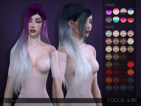 The Sims Resource: Focus Hair by LeahLillith for Sims 4