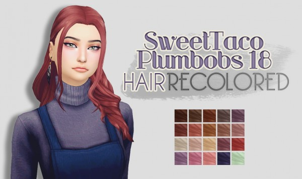 Whoohoosimblr: SweetTacoPlumbobs 18 Hair for Sims 4