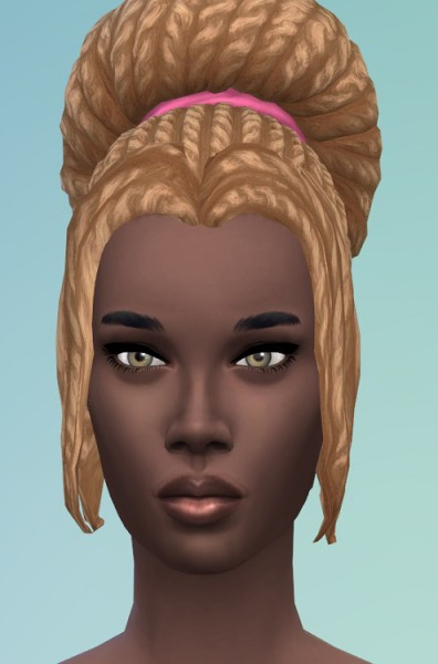 Birksches sims blog: Big City Bun with Bangs for Sims 4