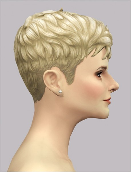 Rusty Nail: Messy short hair EP02F edit for her for Sims 4