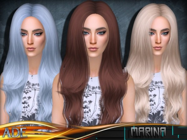 The Sims Resource: Marina hair by Ade Darma for Sims 4