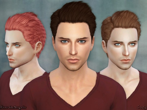 The Sims Resource: DeAngelo hairstyle converted by Cazy for Sims 4