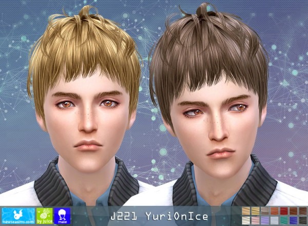 NewSea: Y221 Yuri On Ice hair for Sims 4