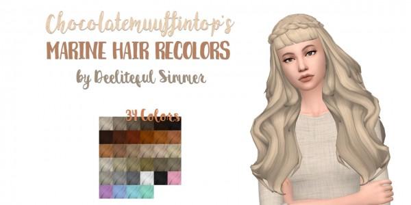 Deelitefulsimmer: Marine hair recolors for Sims 4