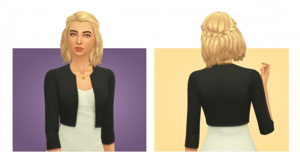 Simple Simmer: Brittany hair for Sims 4
