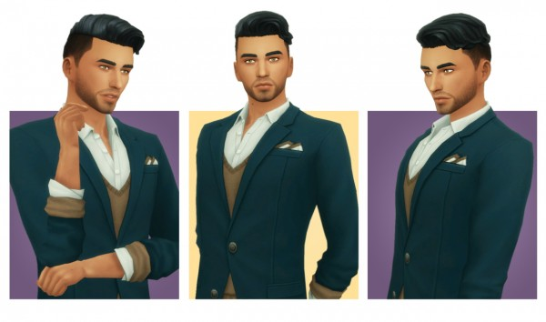 Simple Simmer: Ezra hair for Sims 4