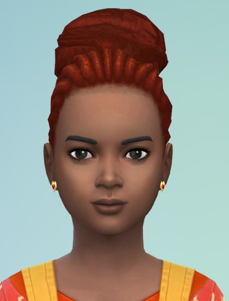 Birksches sims blog: Dread Puff hair for girls for Sims 4