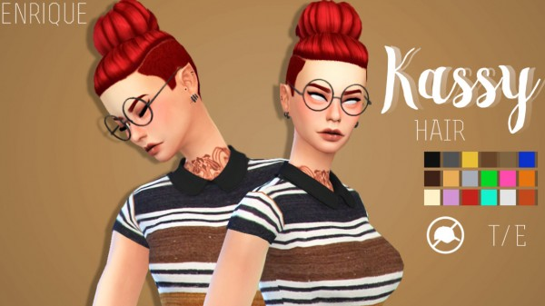 Enrique: Kassy Hair for Sims 4
