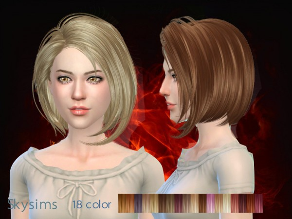 Butterflysims: Hair 021 by Skysims for Sims 4