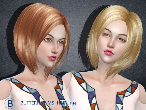 Butterflysims: Hair 194 for Sims 4