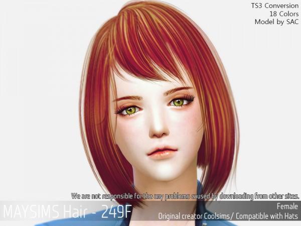 MAY Sims: May 249F hair retextured for Sims 4