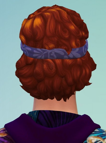 Birksches sims blog: Curls with headband for Sims 4
