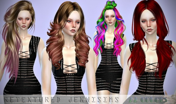 Jenni Sims: Butterfly`s 193, Skysims 033,291,292 hairs retexturesd for Sims 4