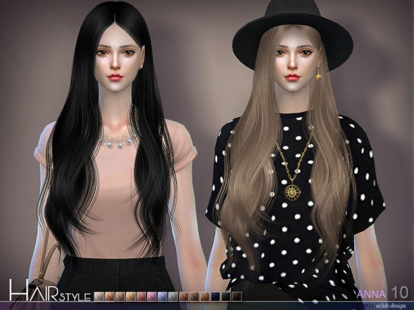 The Sims Resource: Anna n10 hair by S Club for Sims 4