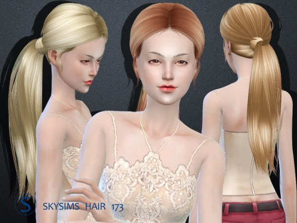 Butterflysims: Skysims Hair 173 for Sims 4