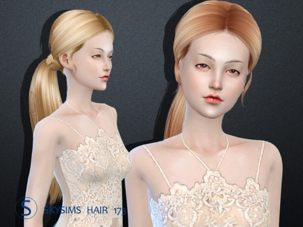 Butterflysims: Skysims Hair 173 for Sims 4