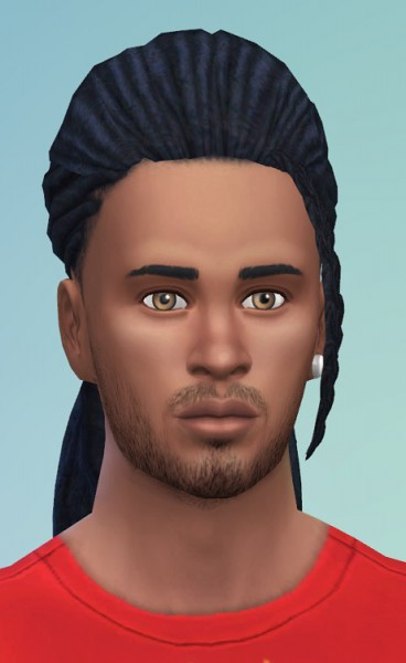 Birksches sims blog: Morning Dreads hair for him for Sims 4